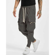 Men Casual Overalls Pants Fitness Workout Solid Color Sweatpants Long Trousers
