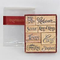Inspirations Stampabilities Set of 8 Stamps Religious Wood Back Rubber Stamp