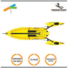 Fishing Kayak Reinforced Floor Freedom Hawk 12 Foot Yellow Boat