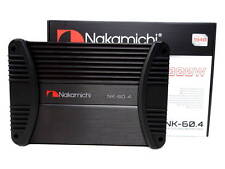 Nakamichi NK60.4 High Power 4 Channel Bridgeable Car Stereo Amplifier 1000W