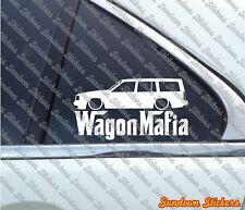 Lowered WAGON MAFIA sticker - for Volvo 940 Turbo station wagon