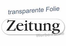 """1 Aufkleber """" Zeitung """" für Briefkasten, Zeitungsrolle  180 x 45 mm"""