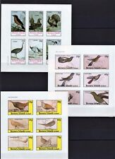 SCOTLAND BERNERA ISLANDS 1982 BIRDS VOGEL PRE-INDEPENDENCE 3 FULL SHEETS MNH**