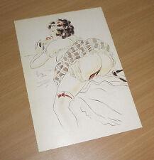 EROTICA UNIVERSALIS Postcard Kunstkarte Sittengeschichte Akt 1920 Drei Töchter