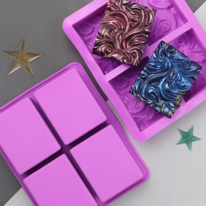 4 Cavity Wavy Flower Silicone Clay Soap Mold Cake Diy Plaster Oil Soap ResiZZIT