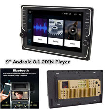 "Quad-Core Android 8.1 9"" 2Din Car Stereo Radio GPS Wifi MP5 Player Touch Screen"