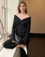 NWT $180 COUNTRY ROAD Bardot Neck Milano Knit Double-end Zip Jacket  XS - XL