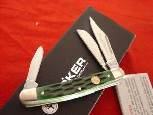Boker Germany 3-3/8 Bone Merry Christmas 2020 Stockman 3 blade Stock Knife MIB