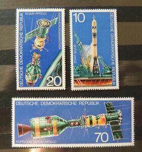 DDR 1975 MiNr. 2083-2085 **/postfrisch Weltraum Sojus-Apollo Raumfahrt All