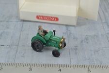 Wiking 8720127 Old Timer Hanomag Agricultural Tractor w/ Figure HO 1:87 Scale