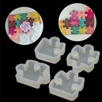 1 Puzzle Gemstone Crystal Mold Silicone Mould DIY Jewelry Pendant UK A5Y9 I2K5