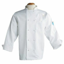 White Chef Coats, Knot Buttons, 100% Polyester, Long Sleeves - 403P