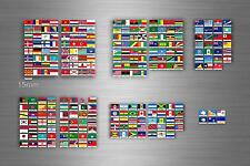 Set 252x sticker flag scrapbooking country collection stamp coins small world r3