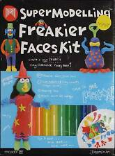 Plasticine Modelling Clay funny face making Set 12x colours how-to-make kit