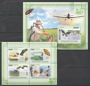 TG1083 2011 TOGO FAUNA INSECTS BIRDS ENVIRONMENT EFFECTS OF PESTICIDES BL+KB NEW
