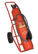 König® 30kg fahrbarer CO2 Feuerlöscher Kohlendioxidlöscher fahrbar Kohlensäure