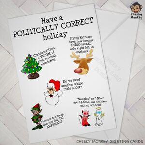 Funny CHRISTMAS CARD Politically correct PC joke humour Offensive rude opinion
