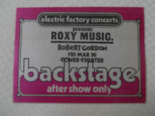 Roxy Music - backstage pass after show only-Tower Theater Upper Darby PA