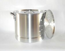 8 Qt Thick Aluminum Seafood Tamale Steamer Stock Pot Tamalera Camping Cook Lid