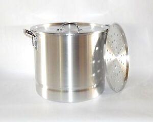 8 quart Thick Aluminum Seafood Tamale Steamer Stock Pot Tamalera Camping Cooking