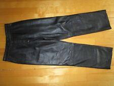 OSCAR LEOPOLD Black Real Genuine Lambskin Soft Leather Lined Pants Size 6