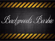 Backwoods Barbie 22'' decal vinyl car sticker diesel windshield banner acura