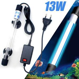 13W Aquarium Fish Tank Pond UV Steriliser Water Clean Submersible Lamp Light UK