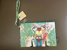 "Colourful ""Cat"" Makeup Toiletries Bag with Wrist Strap by Allen Designs Nwt"