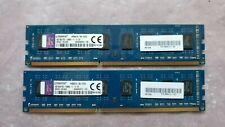 Kingston 8GB (2X4GB) PC3-12800 DDR3-1600MHz 2Rx8 Matched Set! Desktop Memory Ram