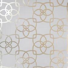 Contemporary Geometric lines modern wallpaper tan gold metallic Textured roll 3D