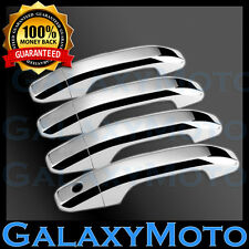 2014-2017 Chevy Silverado 1500 CrewCab Chrome 4 Door Handle w/1 keyhole Cover 16
