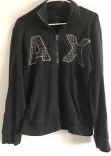 Original Vintage ARMANI EXCHANGE A-X Logo Men's Full Zip Trendy Zip Up Jacket M