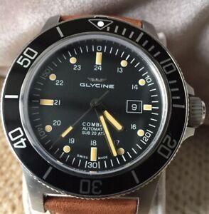 Glycine Combat Sub 48mm Watch + Extra Black Rubber Strap