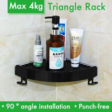 🔥 Bathroom Snap Corner Shelf Rack Triangle Grip Storage Wall Mount Holder AU