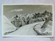 Rppc South Dakota Sharktooth Ridge Badlands, Sd! Real Rise Photo Unused Postcard