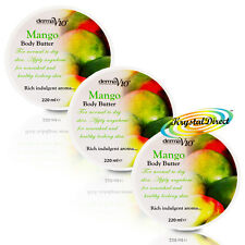 3x Derma V10 Mango Body Butter Moisturiser 220ml For Smooth And Soft Skin