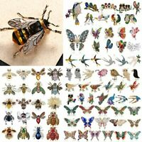 Wholesale Crystal Pearl Bee Bird Butterfly Animal Brooch Pin Women Jewelry Gifts