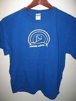 Camp Edmo Northern California USA Summer School Program Staff Blue T Shirt Large