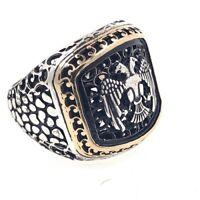 Adler Herren Ring aus 925er Silber Gr 62 EU