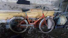 ancien mini vélo pliable PLICYCLETTE GITANE ORANGE vintage 70 rétro 1970