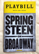 Springsteen On Broadway Music Show Playbill New York City Walter Kerr Theatre