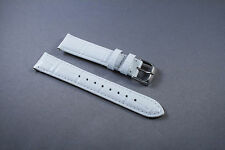 NEW 19mm WHITE GENUINE LEATHER WATCH BAND,STRAP FITS ALL WITH QUICK-RELEASE