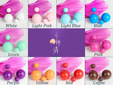 Hot Sale Fashion Elegant Jelly Color Beads Double Sided Pearl Earings Ear Stud