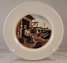 Delano Studios Thomas Cooper NEW ENGLAND HARBOR SCENE Collector Plate 10 3/8""