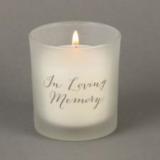 In Loving Memory Memorial Grave Candle Ocean Breeze Fragrance Gift