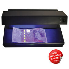 12W 2-in-1 UV Money Checker Fake Counterfeit Polymer & Paper Bank Note Detector