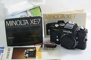 MINOLTA XE-7 AUTOMATIC ELECTRONIC EXPOSURE CONTROL SLR FILM CAMERA (EXCELLENT)