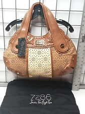 New with tags By Lindsay Lohan 7286 LG Purse Vivian Flower Print Beige Brown bag