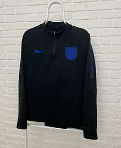 Men's Nike Football England Squad Drill Half Zip Sweat In Black Size L