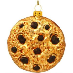 Chocolate Chip Cookie Glass Ornament Christmas Tree Hanging Funny Holiday Gift